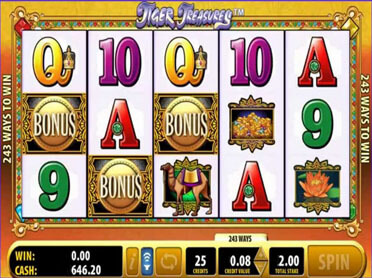 Tiger Treasures Slots Game